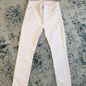 "Hudson ""BARBARA"" High Rise White Jeans"